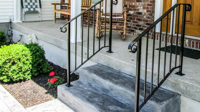 Custom Wrought Iron Stair Railings